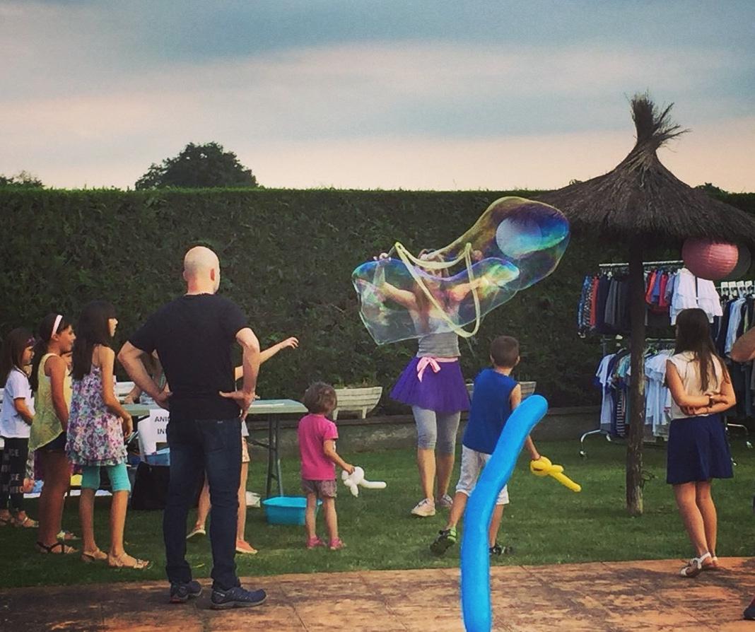 Burbujas gigantes para fiestas